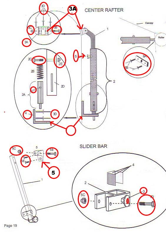 Zip Dee Patio Parts Page